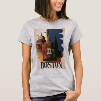 Vintage Travel Poster from Boston, Massachusetts T-Shirt