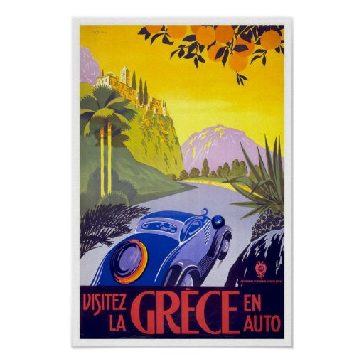 Vintage Travel Poster Greece Posters