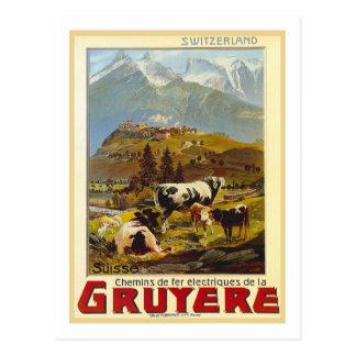Vintage Travel Poster,Gruyere Postcard
