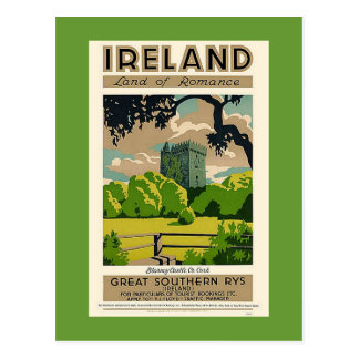Vintage Travel Poster Ireland Blarney Castle Postcard