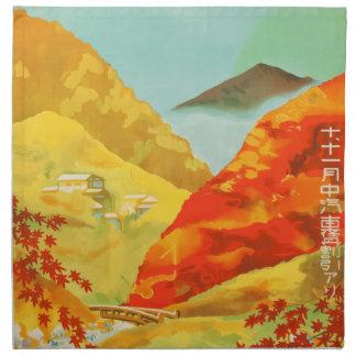 Vintage Travel Poster Japan Napkin
