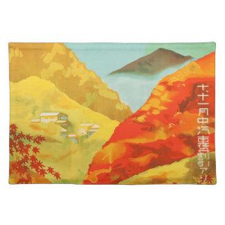 Vintage Travel Poster Japan Placemat