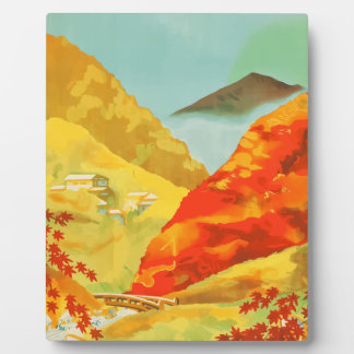 Vintage Travel Poster Japan Plaque