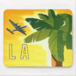 Vintage Travel Poster, Los Angeles, California Mouse Pad