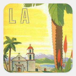 Vintage Travel Poster, Los Angeles, California Sticker