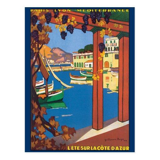 Vintage Travel Poster Mediterranean French Riviera Postcards