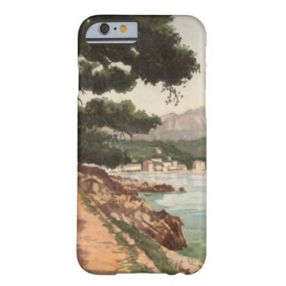 Vintage travel poster Menton France Barely There iPhone 6 Case
