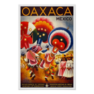 Vintage Travel Poster Mexico