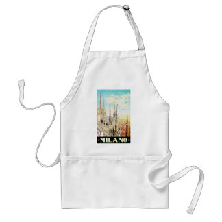 Vintage Travel Poster Milano, Italy Aprons