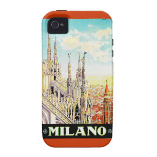 Vintage Travel Poster Milano, Italy iPhone 4/4S Case