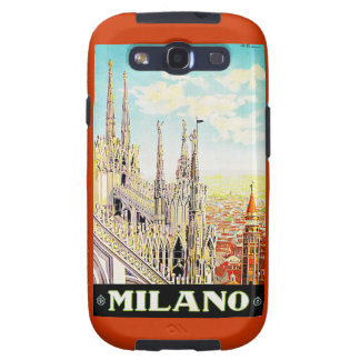 Vintage Travel Poster Milano, Italy Galaxy SIII Case