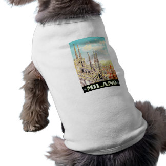 Vintage Travel Poster Milano, Italy Doggie Tee