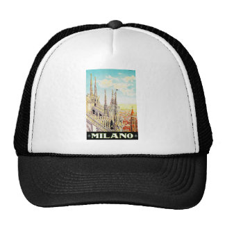 Vintage Travel Poster Milano, Italy Hats