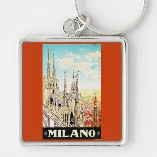 Vintage Travel Poster Milano Italy Key Chain