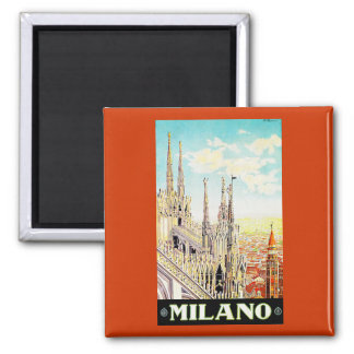 Vintage Travel Poster Milano, Italy Fridge Magnets