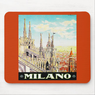 Vintage Travel Poster Milano, Italy Mousepad