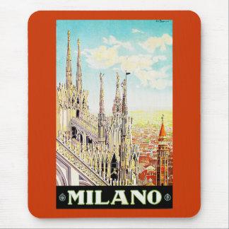 Vintage Travel Poster Milano Italy Mousepad