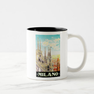 Vintage Travel Poster Milano, Italy Mugs