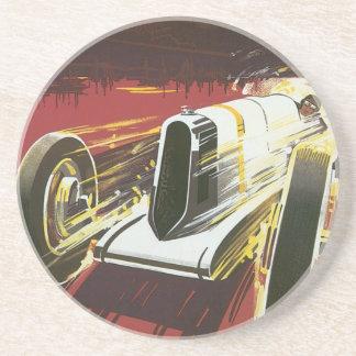 Vintage Travel Poster, Monaco Grand Prix Auto Race Coaster