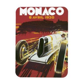 Vintage Travel Poster, Monaco Grand Prix Auto Race Magnet