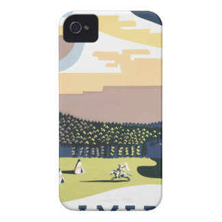 Vintage Travel Poster Montana America USA Case-Mate iPhone 4 Case