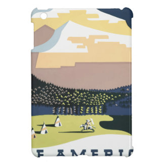 Vintage Travel Poster Montana America USA iPad Mini Cover