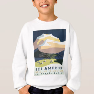 Vintage Travel Poster Montana America USA Sweatshirt