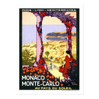 Vintage Travel Poster,Monte-Carlo Postcard