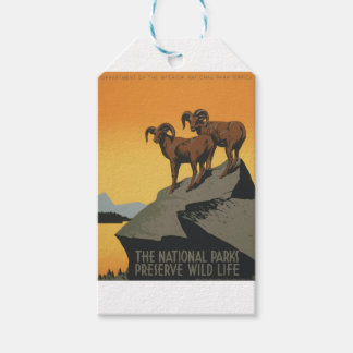 Vintage Travel Poster National Parks America USA Gift Tags
