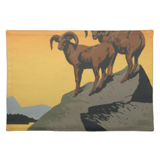 Vintage Travel Poster National Parks America USA Placemat