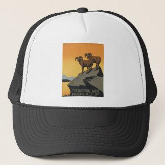Vintage Travel Poster National Parks America USA Trucker Hat