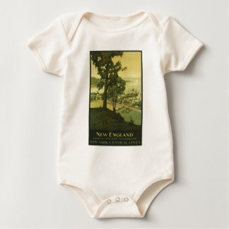 Vintage-Travel-Poster-New-England-USA-2 Baby Bodysuit