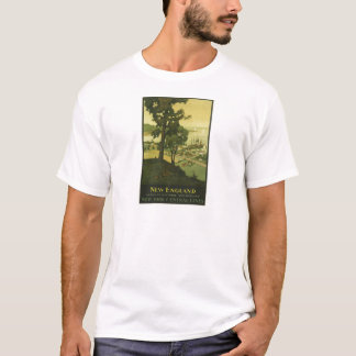 Vintage-Travel-Poster-New-England-USA-2 T-Shirt