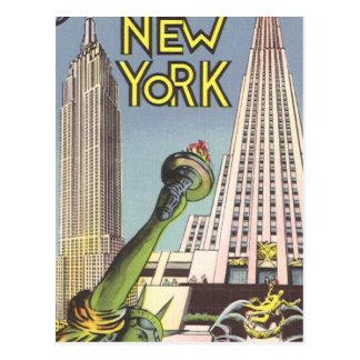 Vintage Travel Poster, New York City Landmarks Postcards