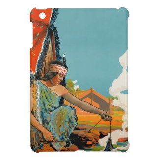 Vintage Travel Poster New Zealand iPad Mini Covers