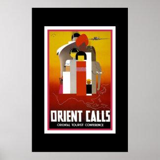 Vintage Travel Poster Orient