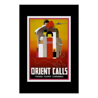 Vintage Travel Poster Orient Print