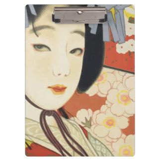 Vintage Travel Poster Osaka Japan Clipboard