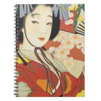 Vintage Travel Poster Osaka Japan Spiral Notebook