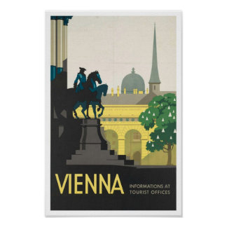 Vintage Travel Poster Print to Vienna