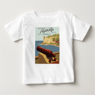 Vintage Travel Poster Puerto Rico Baby T-Shirt