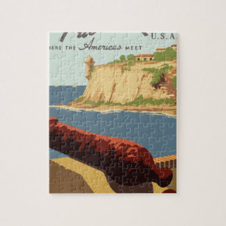 Vintage Travel Poster Puerto Rico Jigsaw Puzzle
