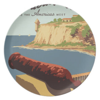 Vintage Travel Poster Puerto Rico Plate