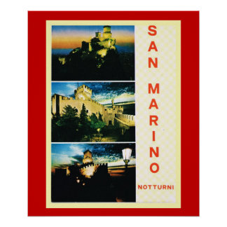 Vintage Travel poster, Republic of San Marino Poster