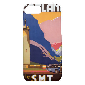 Vintage Travel Poster Scotland iPhone 8/7 Cases