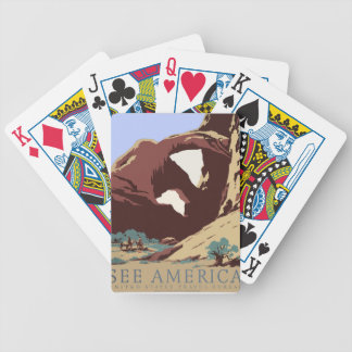 Vintage Travel Poster Southwest America USA Bicycle Playing Cards