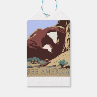 Vintage Travel Poster Southwest America USA Gift Tags