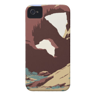 Vintage Travel Poster Southwest America USA iPhone 4 Case
