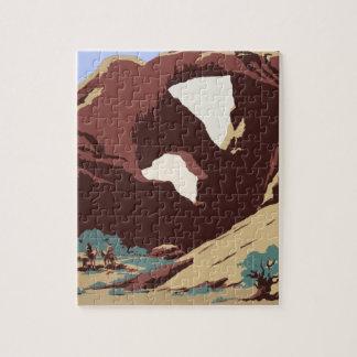 Vintage Travel Poster Southwest America USA Jigsaw Puzzle