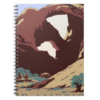 Vintage Travel Poster Southwest America USA Notebook
